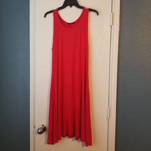 Annabelle Midi Flowy Red/Orange Sleeveless Dress
